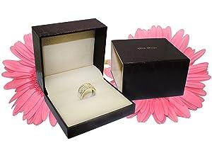 Wedding Ring set for women Diamond Bridal set 14K Gold w//band Gift Box Authenticity Cards 1.10 carat t.w. J, I1