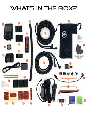 what is in the box photo spread included SG9663DCPRO cable cover brand benefits accessories camera