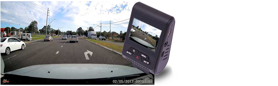 The Street Guardian SG9663DC's front camera is equipped with elite quality SONY EXMOR R CMOS image