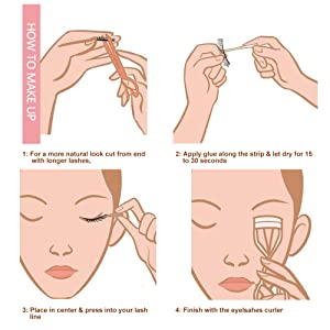 how to use the 3d false eyelashes,please see the introductions.