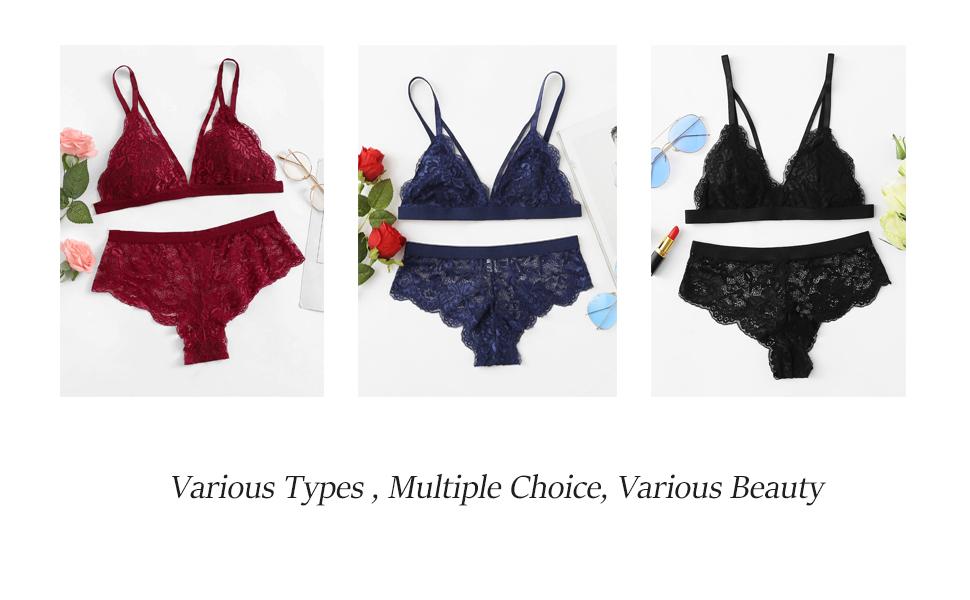b8e9732ac6 Sexy Scalloped Edge Harness Detail Lingerie Set for Women Junior Teen Girl