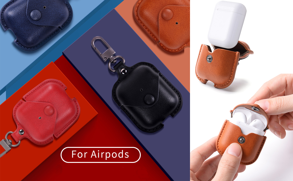 airpods case cover protecter skin leather