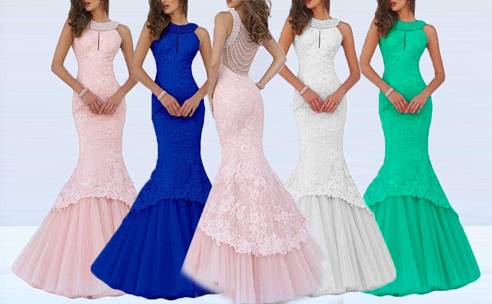 Halter mermaid prom dress