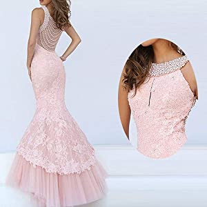 The back and the detail of the dress