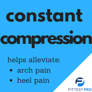 plantar fasciitis constant consistent compression arch pain heel