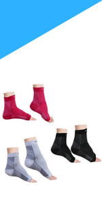 Foot Compression Sleeve (Pack of 3 Pairs) - Ankle Support Compression Socks