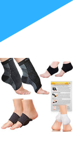 Foot Sleeve, Heel Protectors, Arch Support Therapy Wrap + Cushioned Heel Support