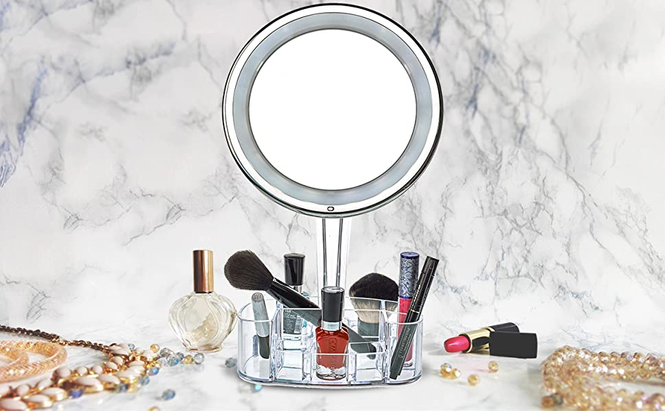 magnified lighted mirror