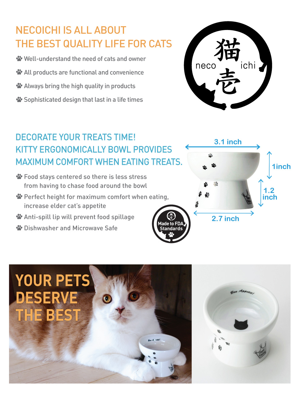 ceramic pet platform feeder with amazon elevated stand l pine raised cat mykonos solid dp table tilted bowls dining collection bowl com vivipet