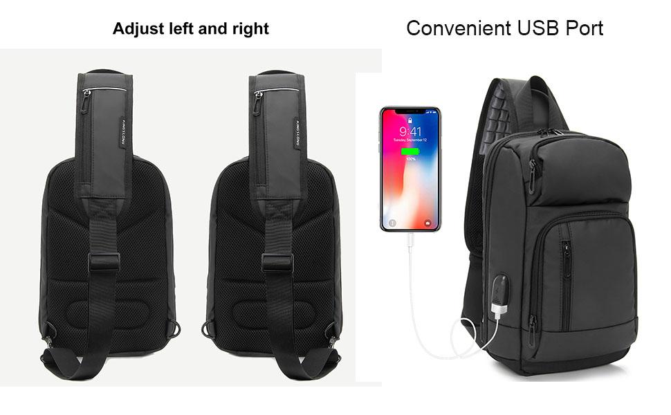 waterproof sling backpack