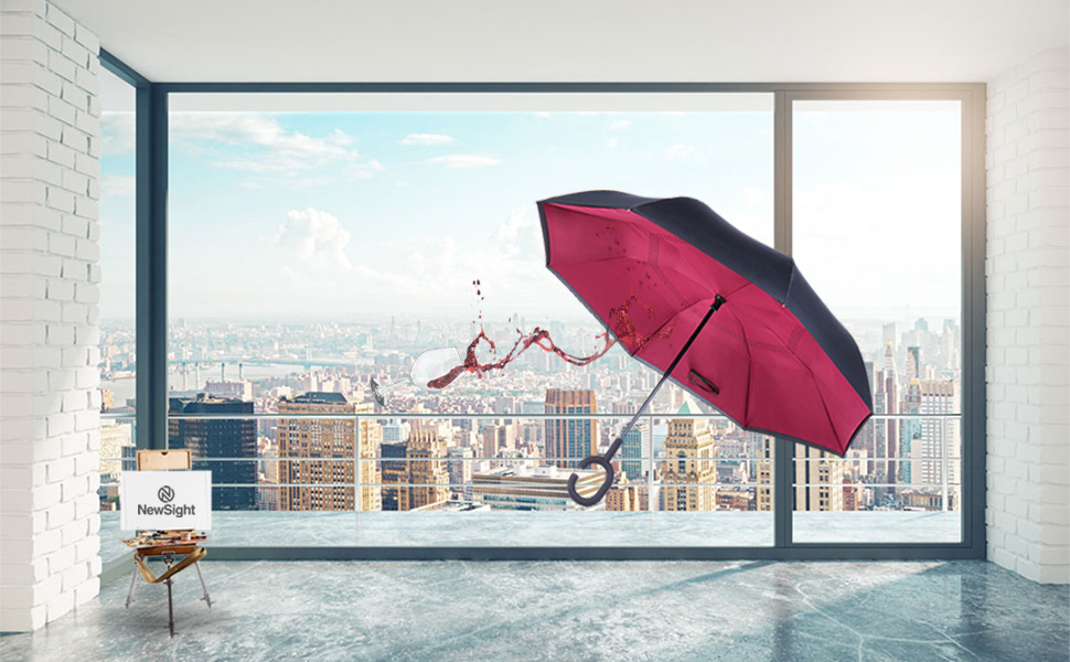 Double Layer Inverted Inverted Umbrella Is Light And Sturdy Abstract Artistic Watercolor Splash Background Reverse Umbrella And Windproof Umbrella Ed