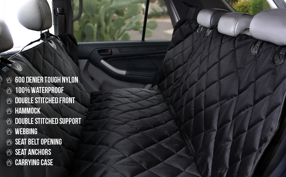 Amazon.com : Max and Neo Dog Car Seat Cover - Waterproof & Durable ...