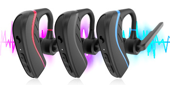 Bluetooth for cell phone has three color - red blue black