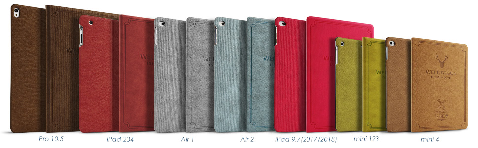 We have cases fit for ipad 2 3 4 air 1 2 mini 1 2 3 4 2017 2018 .