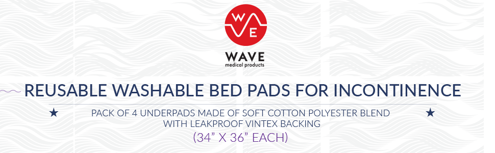 reusable washable bed pads for incontinence