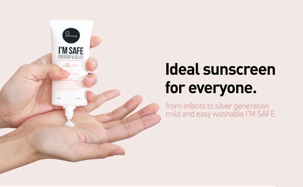 Amazon.com: Suntique I'm Safe For Baby&Silver, Sunscreen For Sensitive  Skin, SPF35, 1.69 fl.oz.: Beauty
