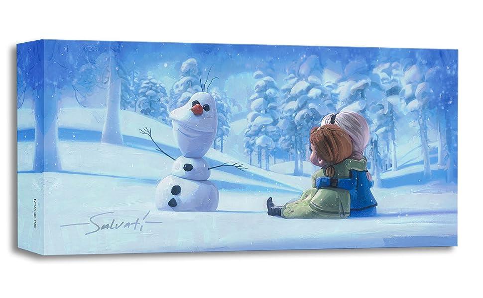 Disney Fine Art Treasures on Canvas Frozen Elsa Anna Memories of Magic by Jim Salvati