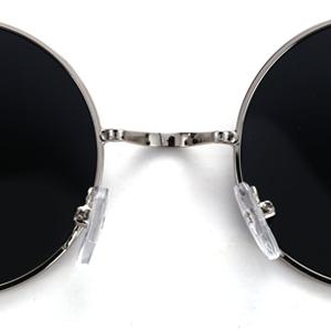6a5165a0ec Amazon.com  Menton Ezil Circle Classic Metal Frame Sunglasses ...