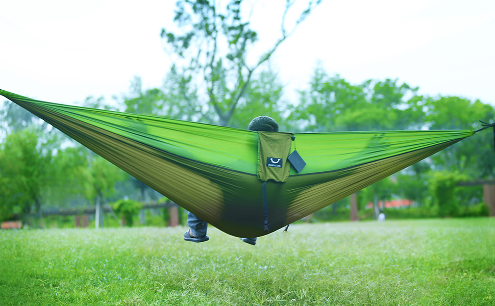 an parachute hammock with multiple uses for many places  it stretches and bounces enough to make it easy to move and adjust and makes swinging more     amazon     hamacool portable hammock garden hammock ripstop      rh   amazon