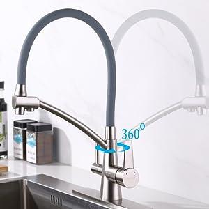 Amazon.com: GAPPO - Grifo para fregadero de cocina con doble ...