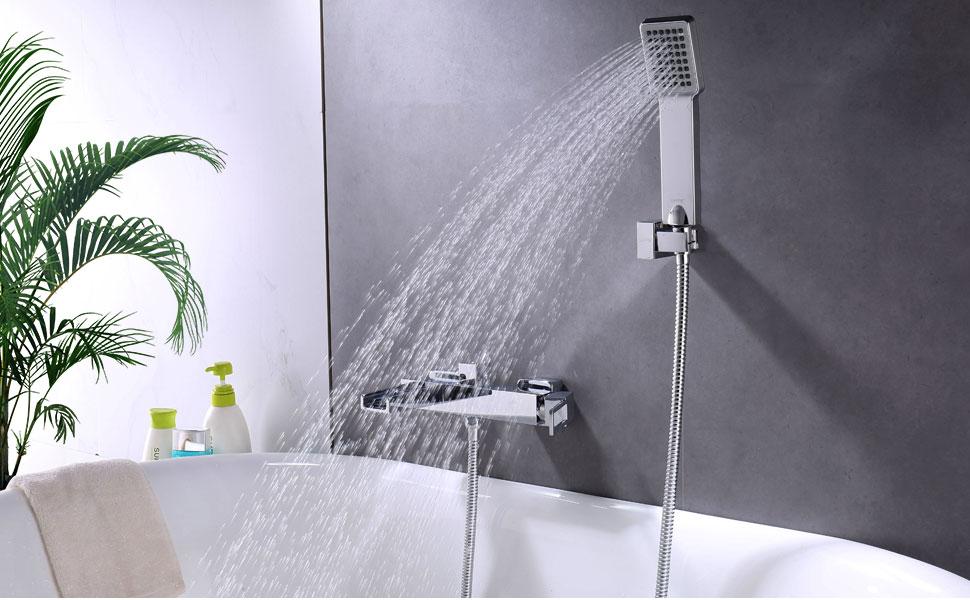 Amazon.com: GAPPO Modern Single Handle Wall Mounted Waterfall Bath ...