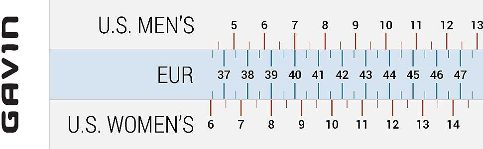 gavin shoe sizing chart