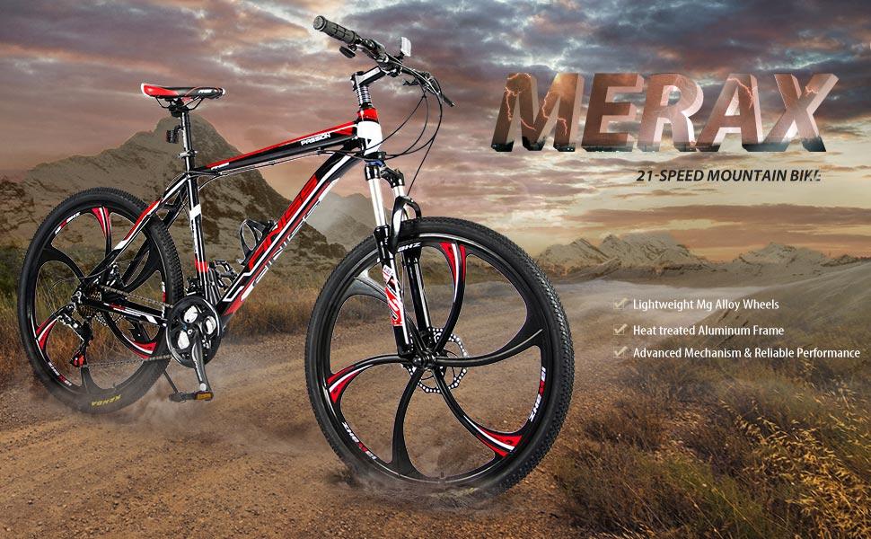 Amazon Com Merax Ms008700jaa Finiss 26 Aluminum 21 Speed Mg Alloy