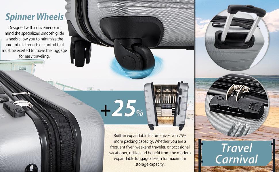 luggage 3 piece luggage set suitcase spinner suitcase 3 piece suitcase spinner luggage merax luggage