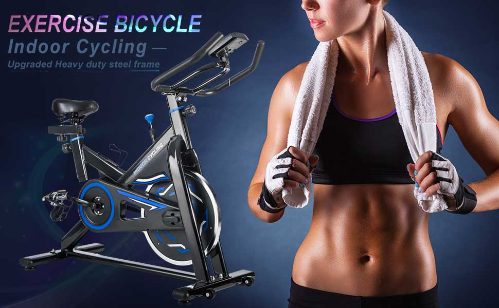 Merax indoor Cycling Bike Cycle Trainer Exercise Bicycle Exercise bike with water bottle