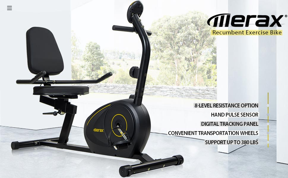 recumbent bike exercise bike adjustable indoor cycling trainer indoor cycle Magnetic Recumbent Bike