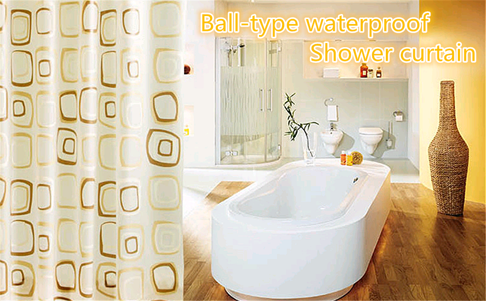 Amazon.com: Uforme WaterProof Bath Curtain Square Pattern Home ...