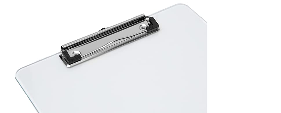 Set of 6 Transparent Clipboard Clear Plastic Clipboards Strong 12.5 x 9 I...