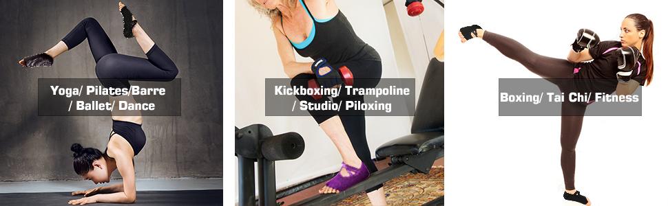 Yoga Socks for Women with Grip & Non Slip Toeless Half Toe Socks for Pilates Ballet Barre Dance Barefoot Workout