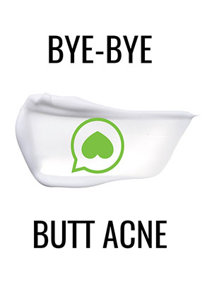 Butt Acne Clearing Lotion for back, buttocks, thighs - Clears away acne  breakouts and reveals new
