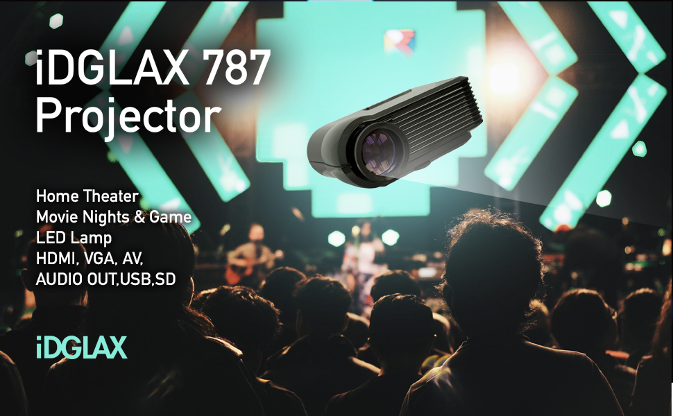 Portable Home Theater Led Movie Projector