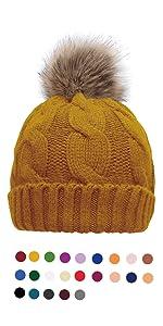 595bf0b2 Knitted Pompom Lined Hats · Infinity Scarf · Pom pom Lining Beanie Cap ·  Fringe Scarf · Winter Thick Velvet Lined Leggings