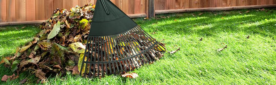 Amazon.com: ORIENTOOLS Rastrillo de hojas de jardín ...