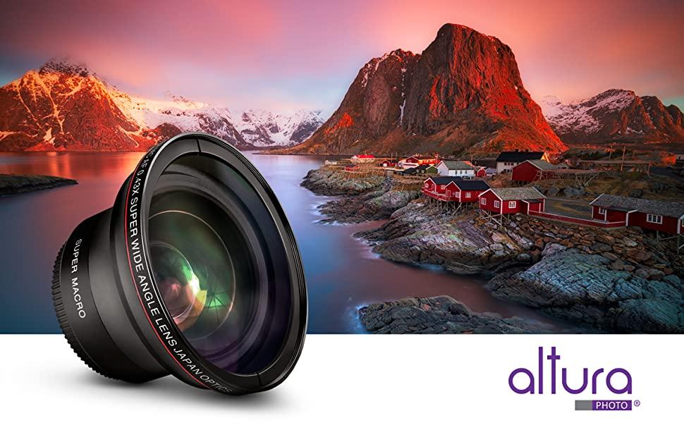 58mm 043x Altura Photo Professional Hd Wide Angle Lens Wmacro Portion For Canon Eos Rebel 77d T7i T6s T6i T6 T5i T5 T4i T3i Sl2 60d 7d 70d