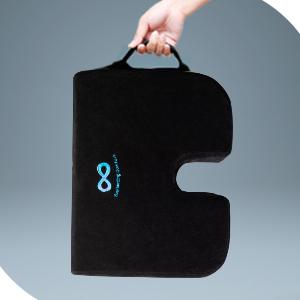 Everlasting Comfort 100% Pure Memory Foam Wedge Seat Cushion - Body Heat Responsive - Orthopedic U Cut-Out Design to Relieve Pain - Car Cushion ...