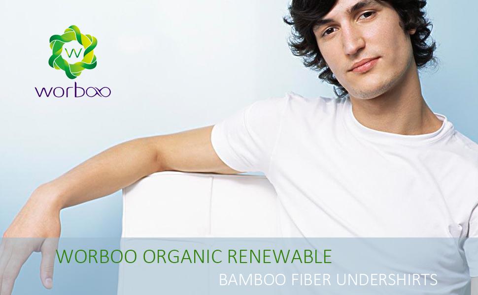 ultra soft crew-neck v-neck bamboo undershirts for men's