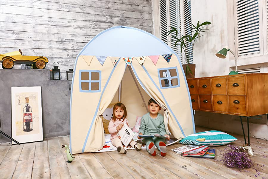 Kids Play Tent u0026 Playhouse Great for C&ing u0026 Partying Indoor/Outdoor Have Kids Pretend Playing in Their Own Private House  sc 1 st  Amazon.com & Amazon.com: love tree Kids Indoor Princess Castle Play Tents ...