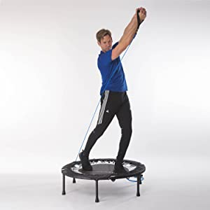 Maximus Pro rebounder with resistance bands for upper body strength