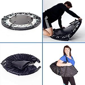 Maximus Pro rebounder quarter folding mini fitness trampoline