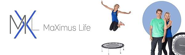 Maximus Life mini trampoline fitness logo