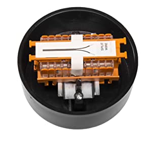 hub for installing low voltage landscape lighting direct burial cable wire connection