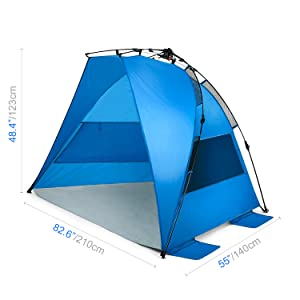 Instant Setup Sun Shelter is perfect for your next trip to the beach!  sc 1 st  Amazon.com & Amazon.com: Easy Up Beach Tent and Deluxe XL Sun Shelter Canopy ...