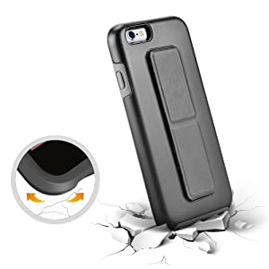 low priced dd319 1ea74 iPhone 6S Case, iPhone 6 Case, ZVEdeng Vertical and Horizontal Stand Hand  Strap Reinforced Magnetic Kickstand Dual Layer Heavy Duty Shockproof Case  ...