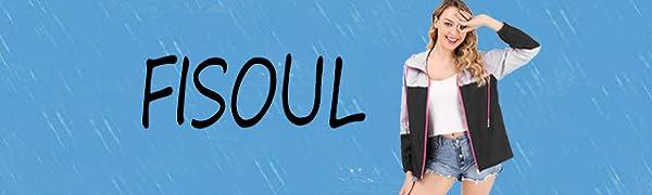 FISOUL Women's Lightweight Raincoat