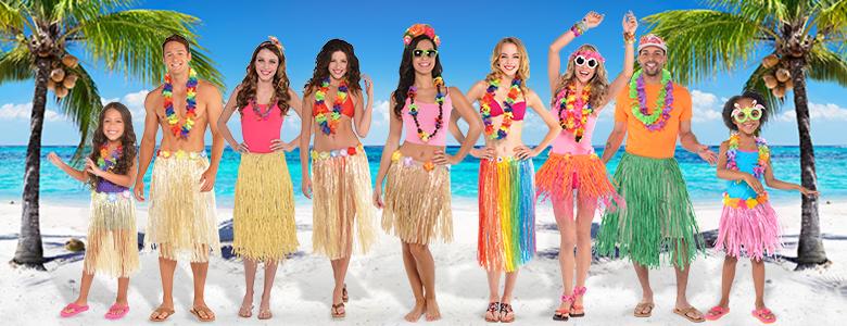 9f7cc20c167 Amazon.com  jollylife 36PCS Hawaiian Luau Leis Necklaces - Tropical ...