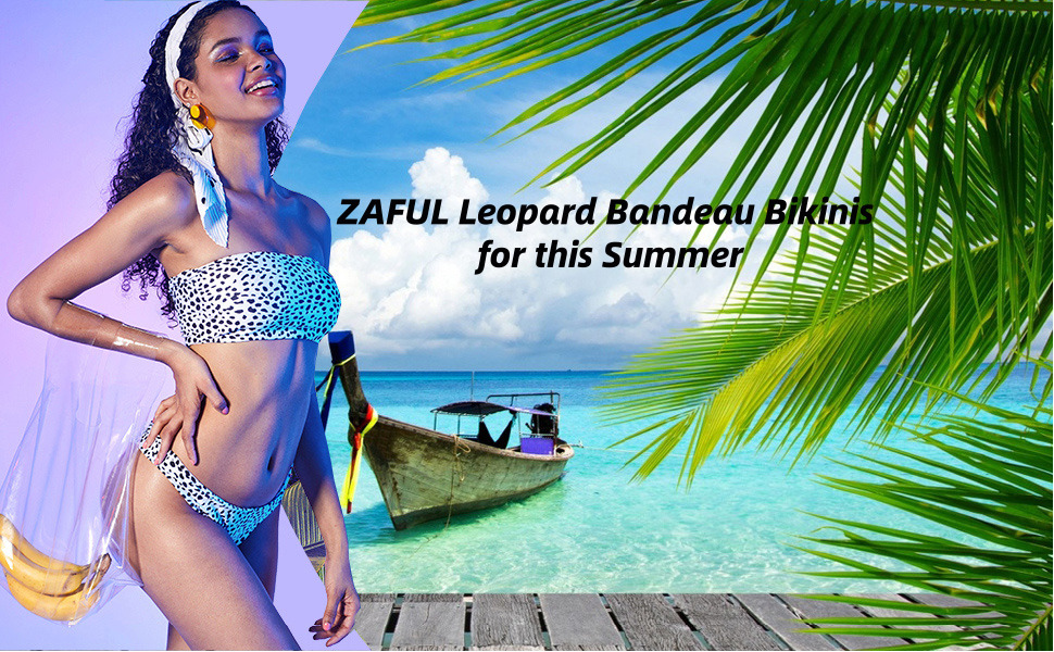 21d1183c8ded This leopard print bandeau bikini sets is perfect for casual, summer beach,  swimming,pool
